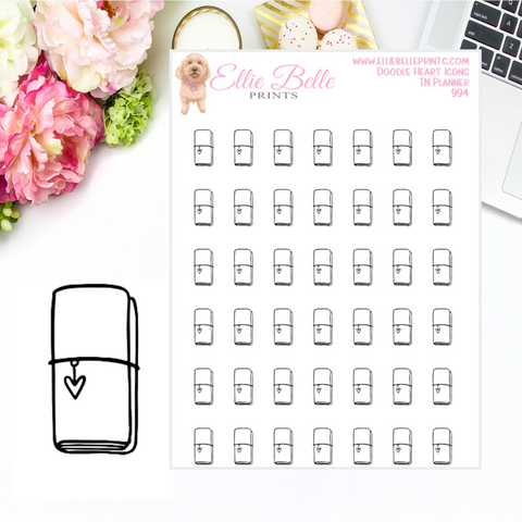 TN Planner Icons - Doodle Heart Icons