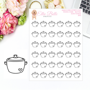 Slow Cooker - Neutral Doodle Icons
