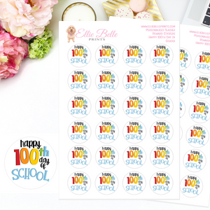 Happy 100th day of School - Teacher Stickers