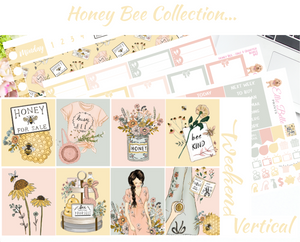Honey Bee - Vertical Weekly Planner Kit