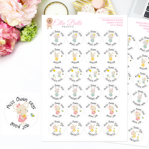 Little Mouse - Personalised Teacher Reward Stickers