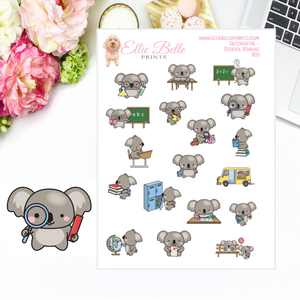 Koala School Stickers