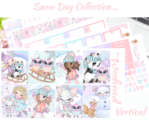Snow Day - Vertical Weekly Planner Kit