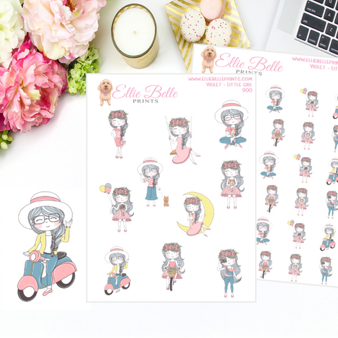 Violet - Little Girl Stickers