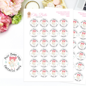 Fairies - Personalised Teacher Reward Stickers