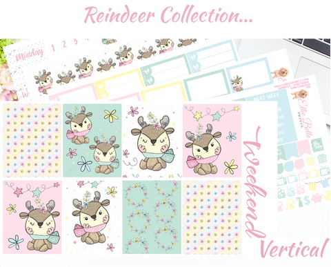 Reindeer - Vertical Weekly Planner Kit