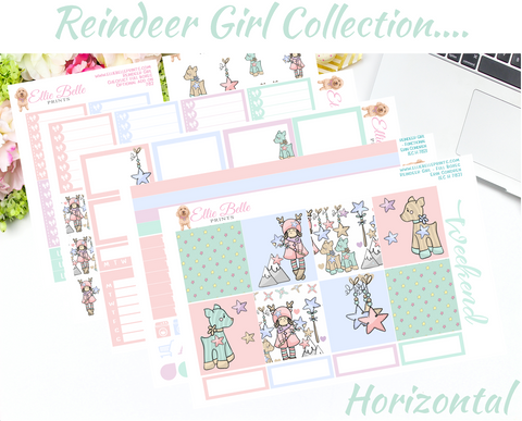 Reindeer Girl Collection - Horizontal Weekly Kit