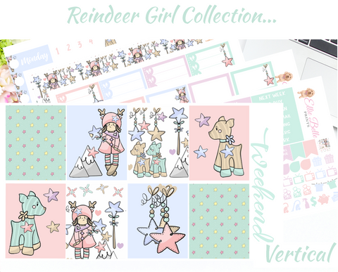 Reindeer Girl - Vertical Weekly Planner Kit
