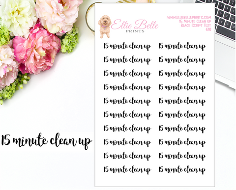 15 Minute Clean Up - Script Stickers