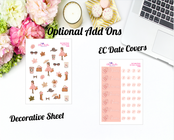 Autumn Rose Collection - Vertical Weekly Planner Kit