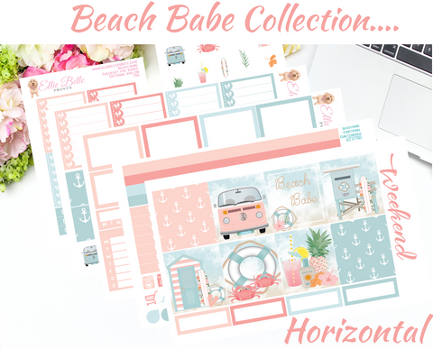 OLD PAPER - Beach Babe Collection - Horizontal Weekly Kit