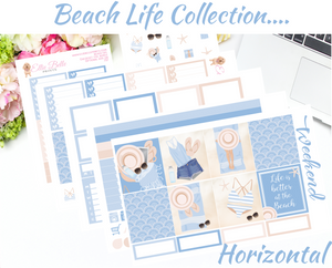OLD PAPER - Beach Life Collection - Horizontal Weekly Kit