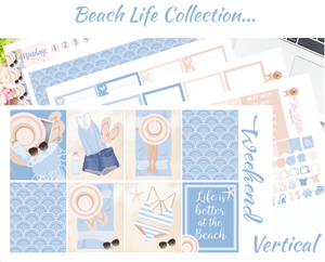 Beach Life - Vertical Weekly Planner Kit
