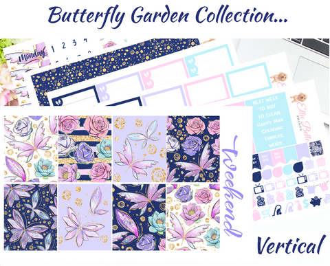 Butterfly Garden - Vertical Weekly Planner Kit