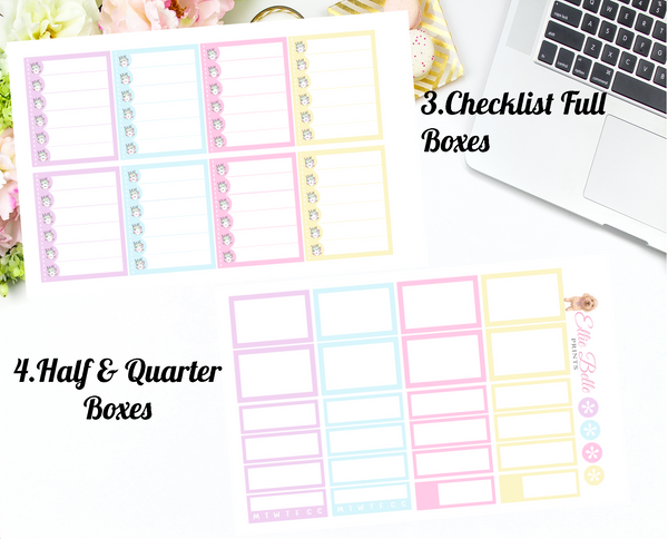 Cattitude - Vertical Weekly Planner Kit