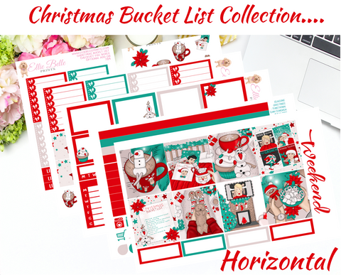Christmas Bucket List Collection - Horizontal Weekly Kit