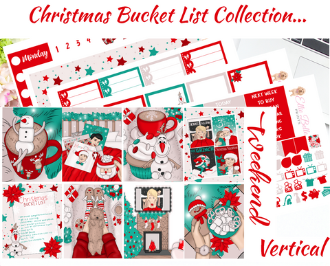 Christmas Bucket List - Vertical Weekly Planner Kit
