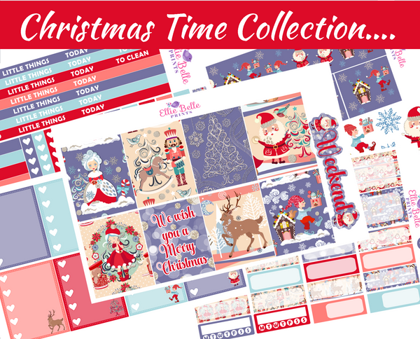Christmas Time Collection  - Vertical Weekly Planner Kit [307]