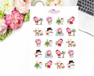 Christmas Unicorn Collection Stickers - Christmas Unicorns