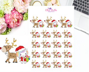 Reindeer Stickers - Christmas Unicorn Collection