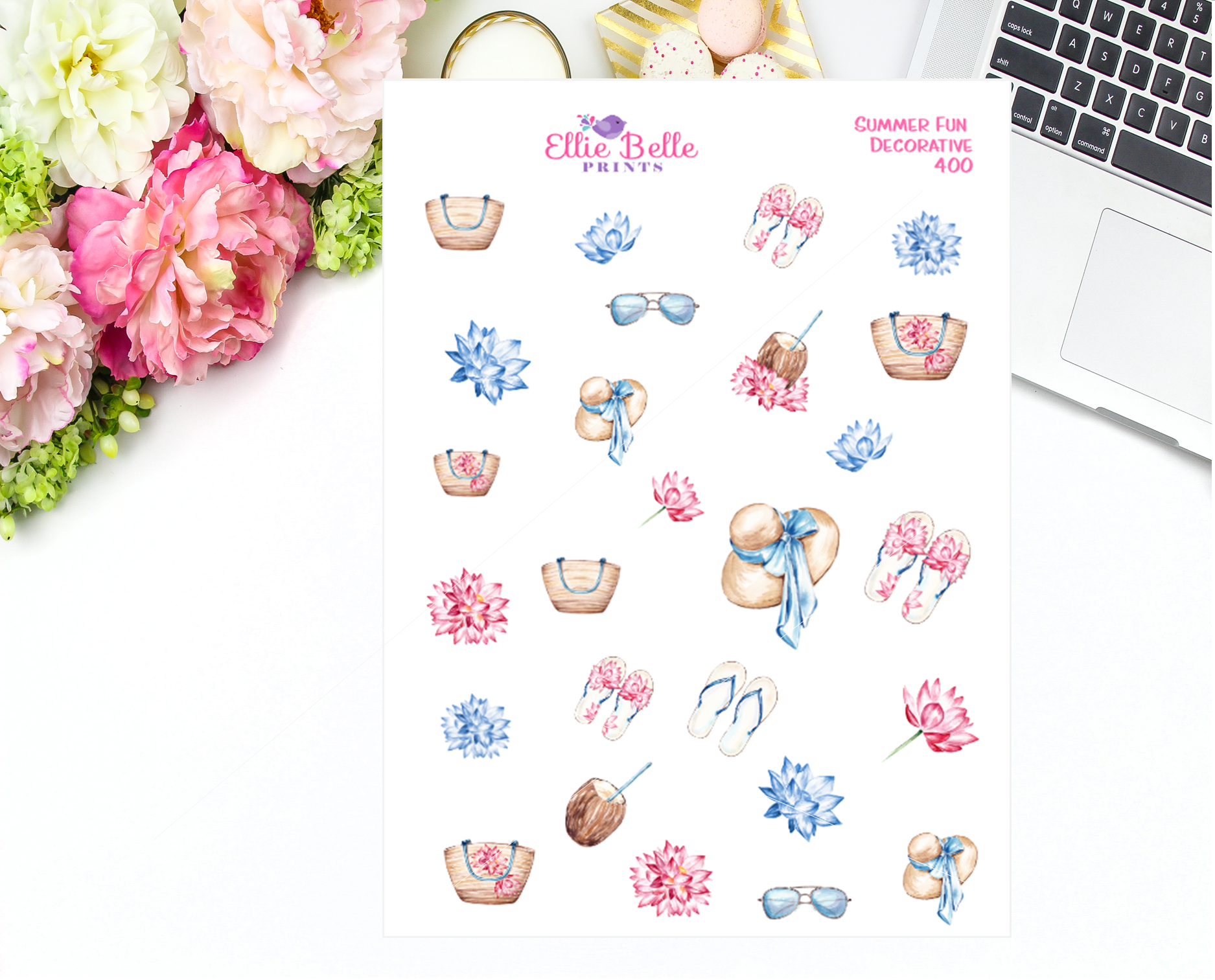 Summer Fun Collection Decorative Stickers