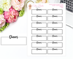 Dinner Quarter Box with Text - Text Boxes