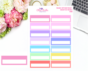 Blank Appointment Quarter Boxes - Pastel Pop