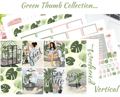 Green Thumb - Vertical Weekly Planner Kit
