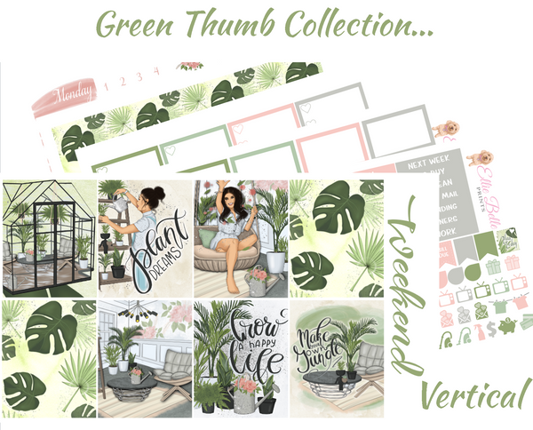 OLD PAPER - Green Thumb - Vertical Weekly Planner Kit