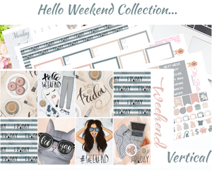 OLD PAPER - Hello Weekend - Vertical Weekly Planner Kit