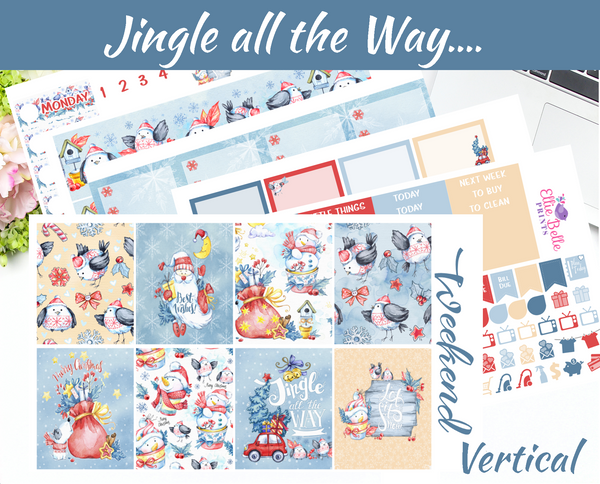 Jingle all the Way - Vertical Weekly Planner Kit [394]