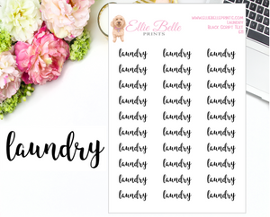 Laundry - Script Stickers