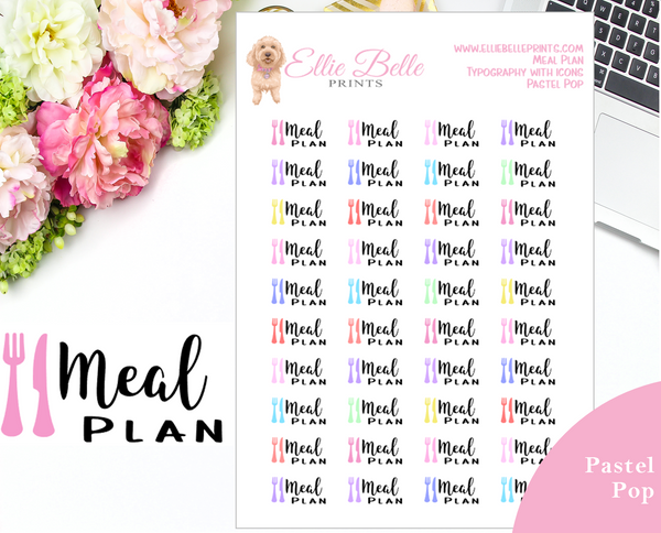 Meal Plan - Typography with Icons
