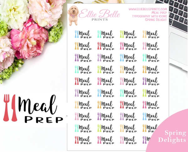 Meal Prep - Typography with Icons