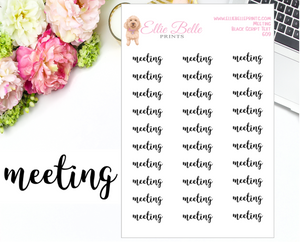Meeting - Script Stickers