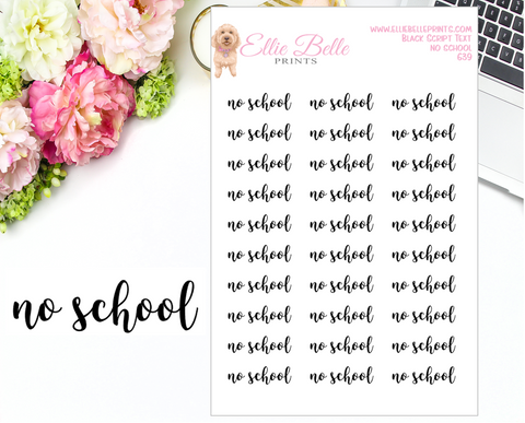 No School - Script Stickers