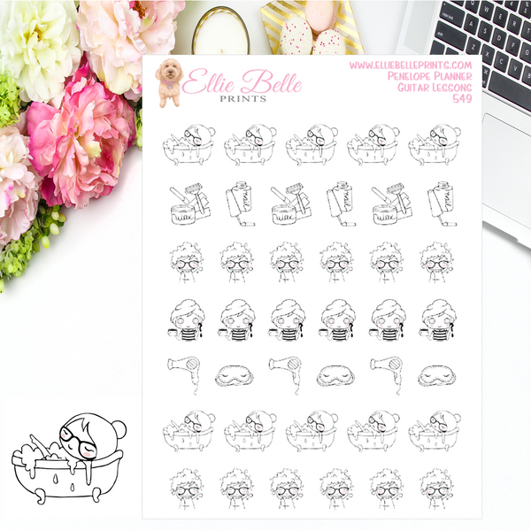 Pampering Stickers - Penelope Planner