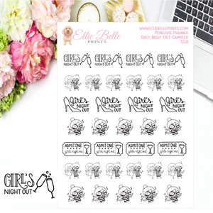 Girls Night Out Stickers - Penelope Planner
