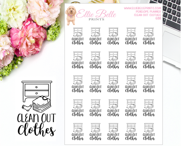 Spring Cleaning Stickers - Penelope Planner
