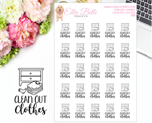 Clean Out Clothes Stickers - Penelope Planner