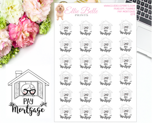 Pay Mortgage Stickers - Penelope Planner
