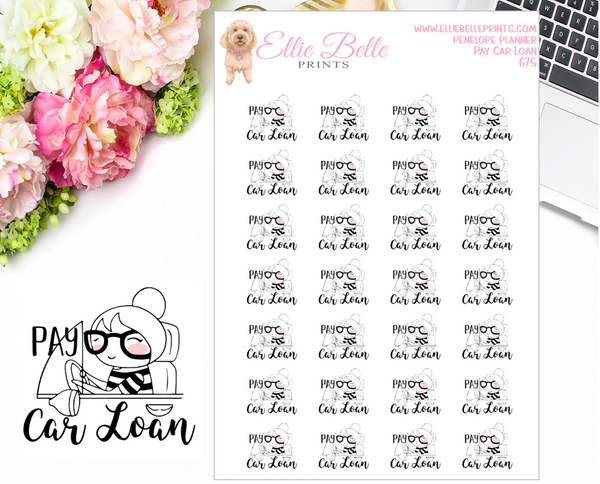 Pay Bills Stickers - Penelope Planner