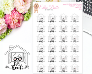 Pay Rent Stickers - Penelope Planner
