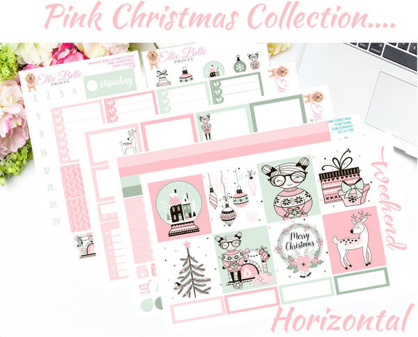 Pink Christmas - Horizontal Weekly Kit