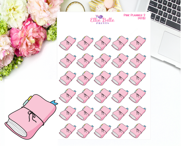 OLD PAPER - Pink Planner (2) Stickers