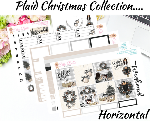 Plaid Christmas - Horizontal Weekly Kit