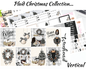 Plaid Christmas - Vertical Weekly Planner Kit