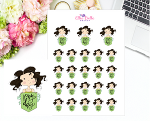 Pay Day Stickers - Christine Collection 2