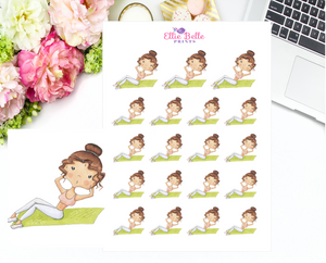 Gym / Work Out  Stickers - Christine Collection 1
