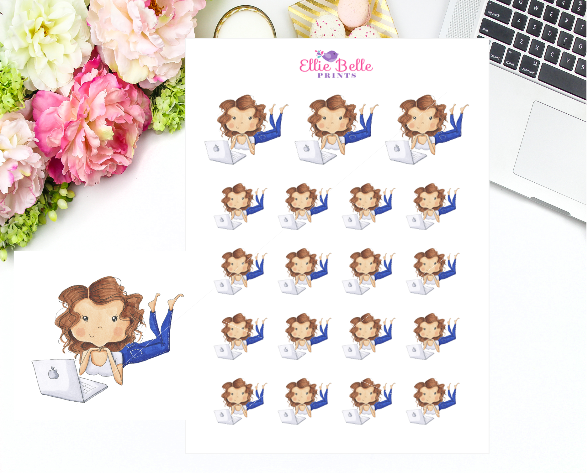 Laptop Stickers - Christine Collection 1